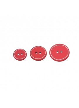 Bouton galet Rouge
